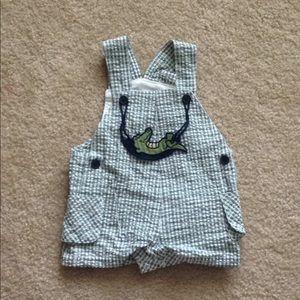 Baby alligator overalls